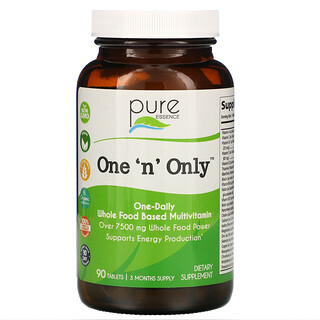 Pure Essence, One 'n' Only, Whole Food Based Multivitamin, 90 Tablets