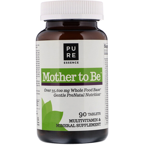 Pure Essence, Mother To Be, Multivitamin & Mineral , 90 Tablets