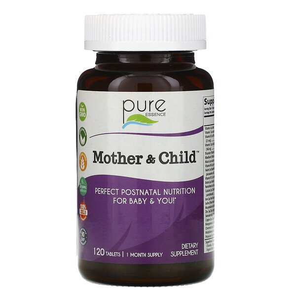 Pure Essence, Mother & Child, 120 Tablets