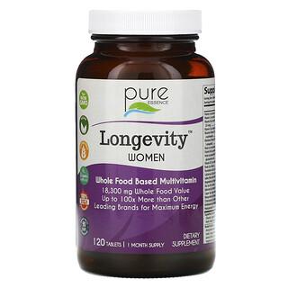 Pure Essence, Longevity Women, 120 Tablets