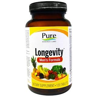 Pure Essence, Longevity, Men's Formula, 120 Tablets