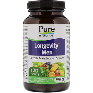 Pure Essence, Longevity Men, 120 comprimidos