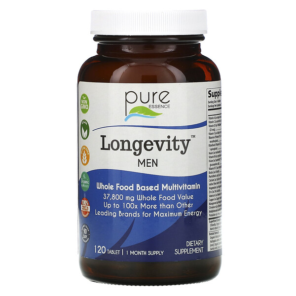 Pure Essence, Longevity Men, 120 Tablet