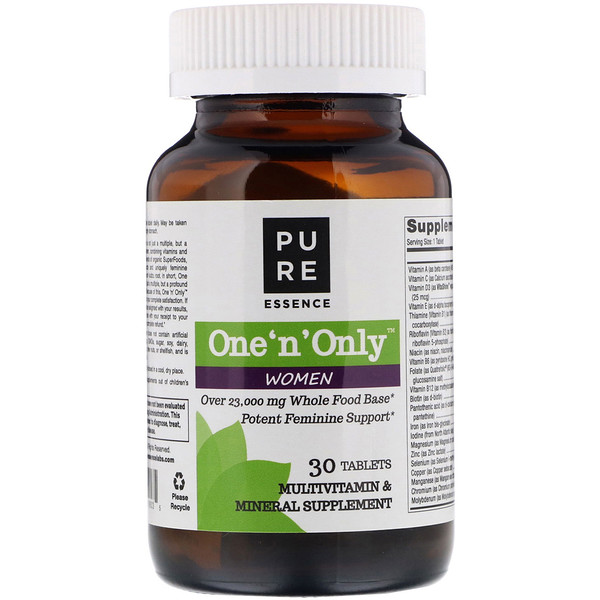 Pure Essence, One 'n' Only Women, Multivitamin & Mineral, 30 Tablets