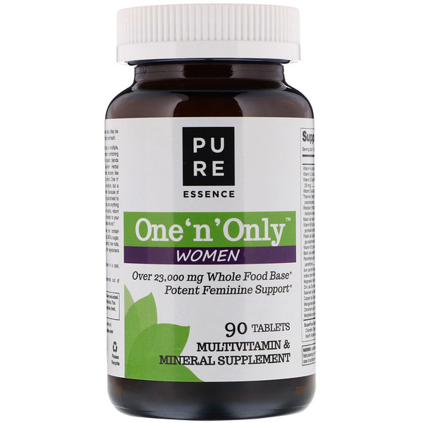Pure Essence, One 'n' Only Women, Multivitamin & Mineral, 90 Tablets