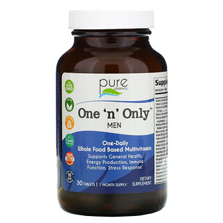 Pure Essence, One 'n' Only للرجال، الفيتامينات الكاملة، ، 30 قرص
