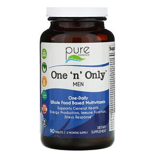 Pure Essence, One 'n' Only للرجال، متعدد الفيتامينات والمعادن، ، 90 قرصًا