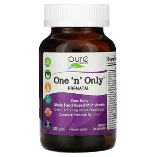 Pure Essence, One 'n' Only PreNatal, 30 Tablets