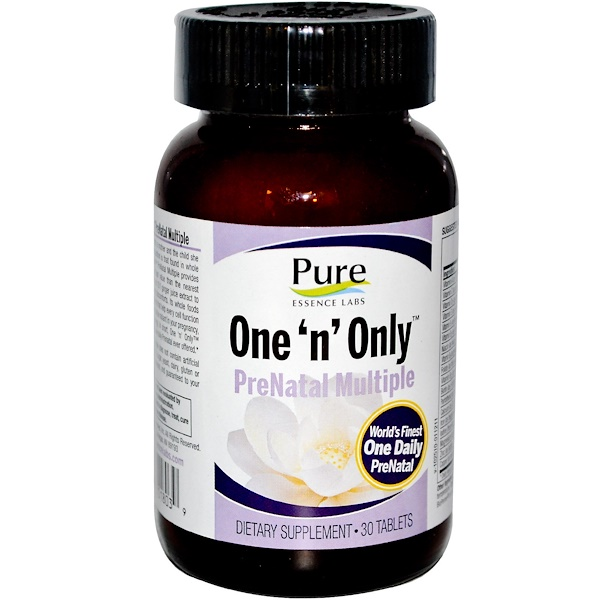 Pure Essence, One 'n' Only, PreNatal Multiple, 30 Tablets (Discontinued Item)