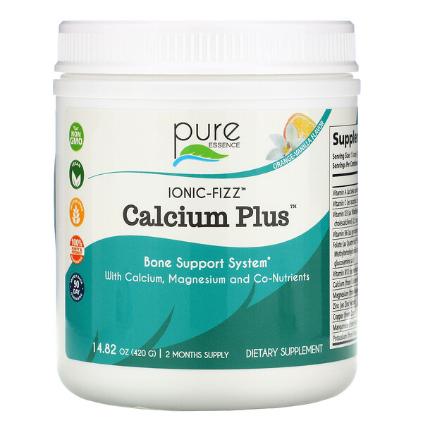 Ionic-Fizz Calcium Plus, Orange Vanilla , 14.82 oz (420 g)