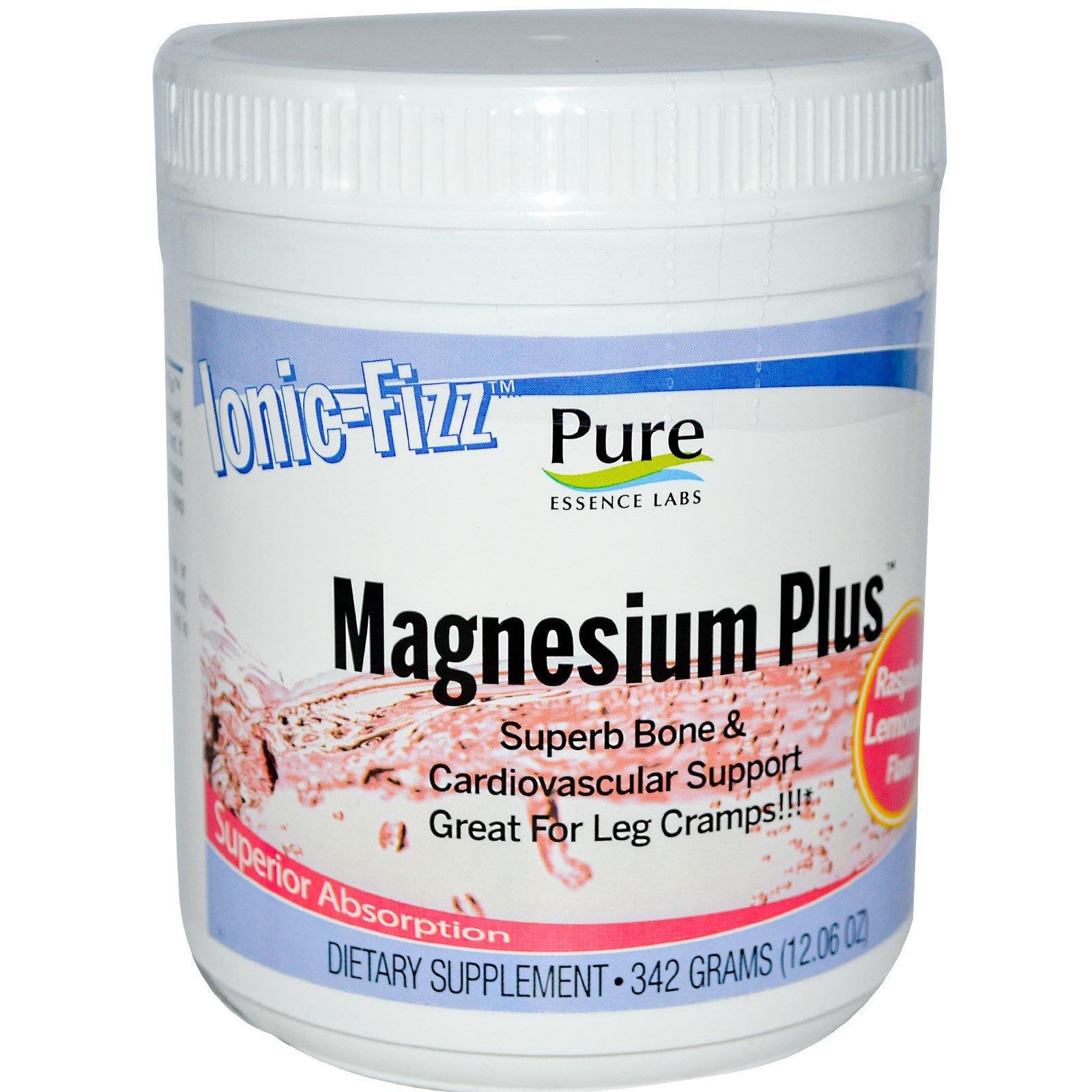 Pure Essence, Ionic-Fizz, магний плюс, с малиново-лимонадным вкусом, 12,06 унций (342 г)