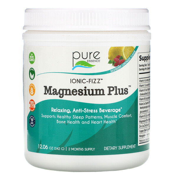 Ionic-Fizz, Magnesium Plus, Raspberry Lemonade, 12.06 oz (342 g)