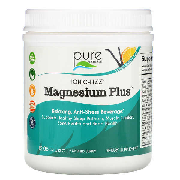 Ionic-Fizz Magnesium Plus, Orange-Vanilla, 12.06 oz (342 g)