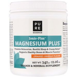 Pure Essence, Ionic-Fizz Magnesium Plus, Orange-Vanilla, 12.06 oz (342 g)