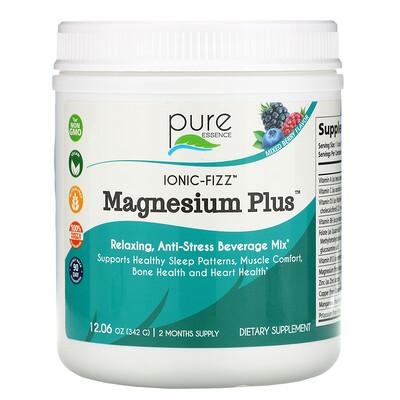 Pure Essence Ionic-Fizz, Magnesium Plus, смесь ягод, 342г (12,06унции)