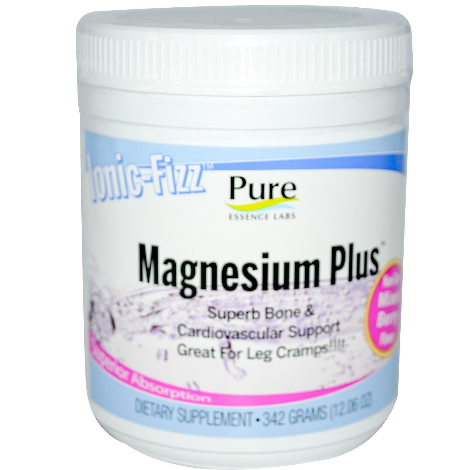 Pure Essence, Ionic-Fizz Magnesium Plus, ягодная смесь, 12,06 унций (342 г)