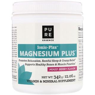 Pure Essence, Ionic-Fizz, Magnesium Plus, Mixed Berry, 12.06 oz (342 g)