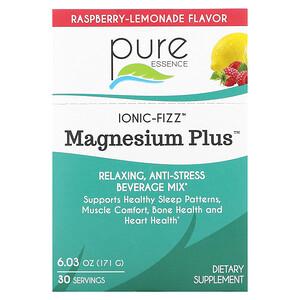 Pure Essence, Ionic-Fizz, Magnesium Plus, Raspberry Lemonade, 30 Packets, 0.2 oz (5.7 g) Each