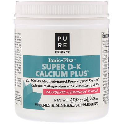 Купить Ionic-Fizz, Супер D-K Calcium Plus, малиновый лимонад, 14, 82 унции (420 г)