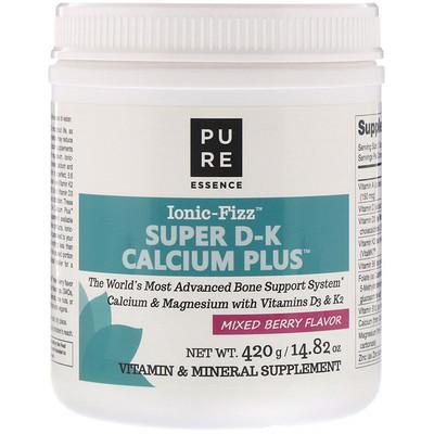 Фото - Ionic-Fizz, Super D-K Calcium Plus, смесь ягод, 14,82 унции (420 г) sport белковая смесь премиум качества со вкусом ягод 801 г 28 3 унции