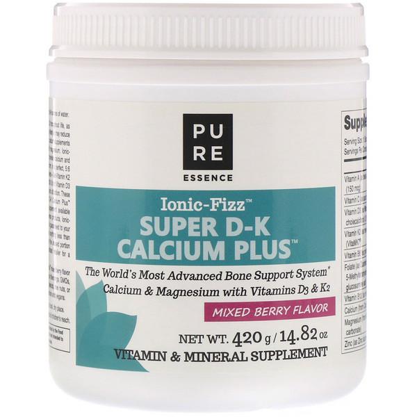 愛奧尼亞超級維生素D、維生素K和鈣泡騰片,混合漿果味,14.82 盎司(420 克)