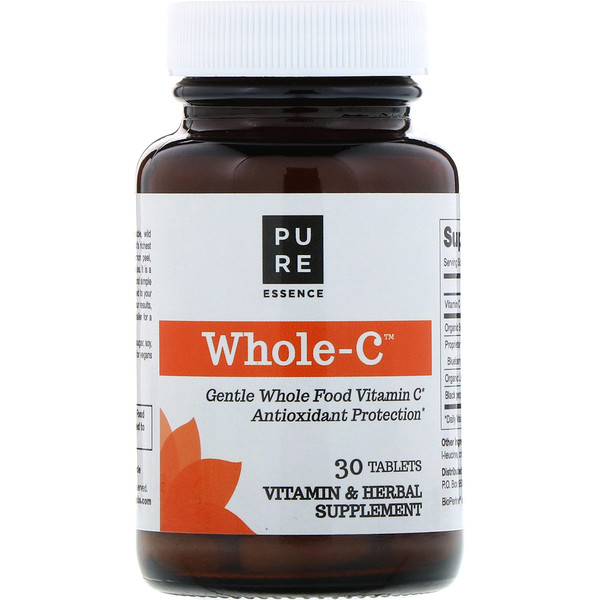 Whole C, Whole Food Vitamin C, 30 Tablets
