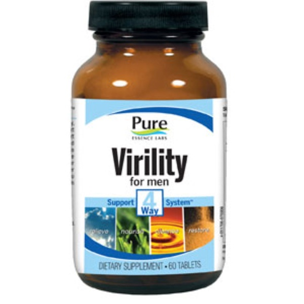 Pure Essence, Virility For Men, 4 Way Support System, 60 Tablets (Discontinued Item)
