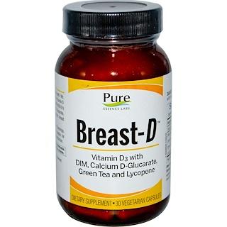 Pure Essence, Breast-D, 30 Veggie Caps