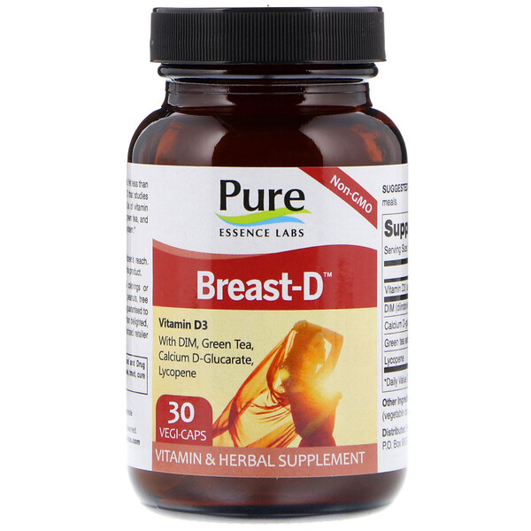 Pure Essence, Breast-D,30素食膠囊