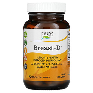 Pure Essence, Breast-D, Supports Breast, Prostate & Vascular Health, 90 Vegetarian Capsules