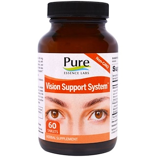 Pure Essence, Vision Support System, 60 Tablets