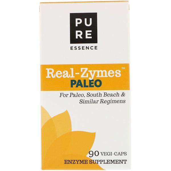 Pure Essence, Real-Zymes, палеодиета, 90 капсул в растительной оболочке (Discontinued Item)