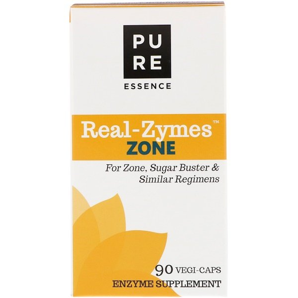 Pure Essence, Real-Zymes, Zone, 90 Vegi-Caps