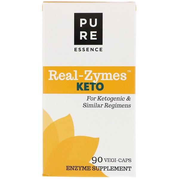 Pure Essence, Real-Zymes، نظام غذائي كيتوني، 90 كبسولة نباتية (Discontinued Item)