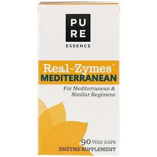 Pure Essence, Real-Zymes, Mediterranean, 90 Vegi-Caps