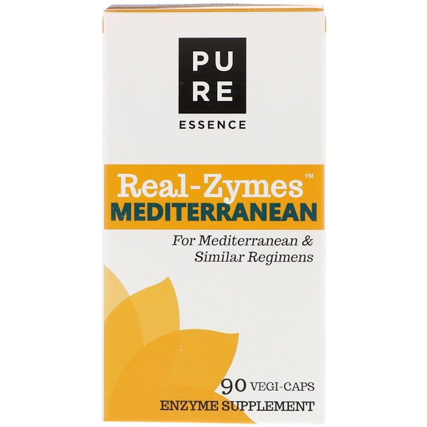 Pure Essence, Real-Zymes, Mediterranean, 90 Vegi-Caps (Discontinued Item)