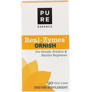 Pure Essence, Real-Zymes, Ornish, 90 Vegi-Caps