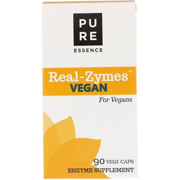 Pure Essence, Real-Zymes, Vegan, 90 Vegi-Caps (Discontinued Item)