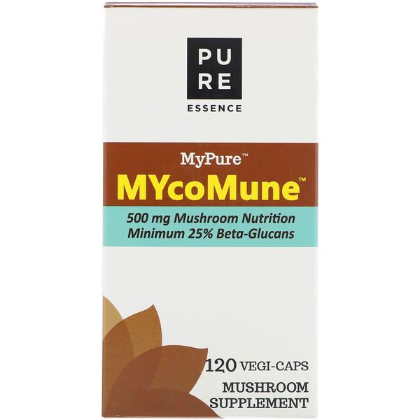 Pure Essence, MyPure, MYcoMune, 120 Vegi-Caps (Discontinued Item)