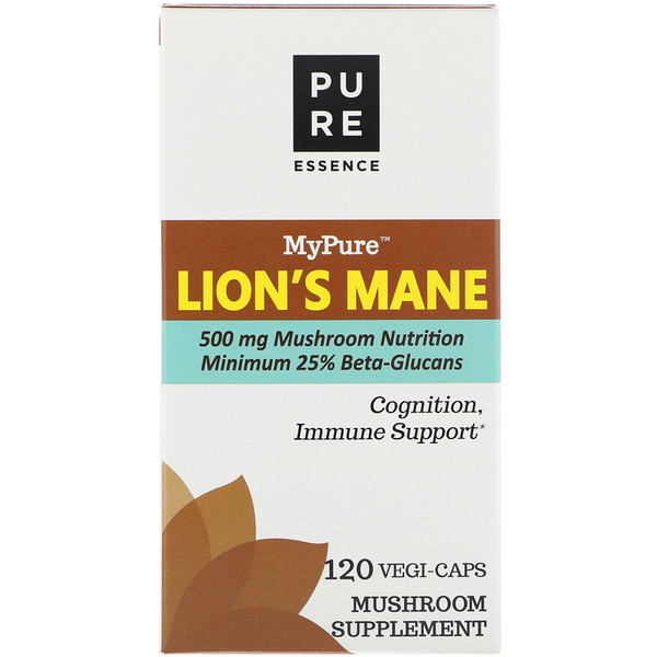 Pure Essence, MyPure, Lion's Mane, 120 Vegi-Caps (Discontinued Item)