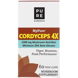 Pure Essence, MyPure, Cordyceps 4X, 60 Vegi-Caps