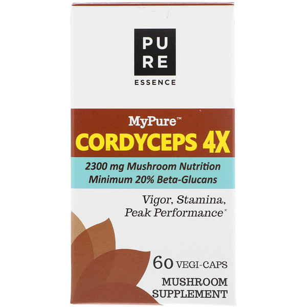 Pure Essence, MyPure, Cordyceps 4X, 60 Vegi-Caps (Discontinued Item)