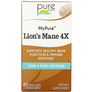 Pure Essence, MyPure,猴头菇 4X,60 粒素食胶囊