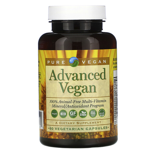 Advanced Vegan, 60 Vegetarian Capsules