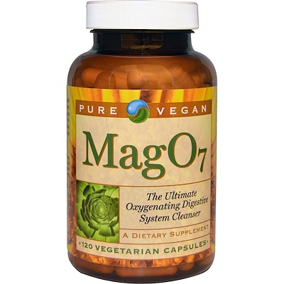 Mag 07, The Ultimate Oxygenating Digestive System Cleanser, 120 Vegetarian Capsules mag 07 the ultimate oxygenating digestive system cleanser 120 vegetarian capsules