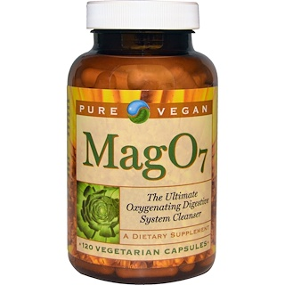 Pure Vegan, Mag 07, The Ultimate Oxygenating Digestive System Cleanser, 120 Veggie Caps