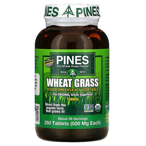 Wheat Grass, 500 mg, 250 타블렛