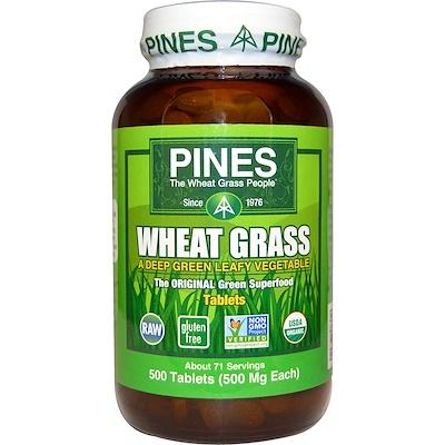 Pines, ростки пшеницы, 500 мг, 500 таблеток комплекс био рутина 500 мг 500 мг 90 таблеток