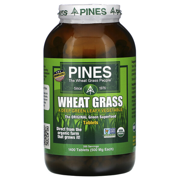 Wheat Grass, 500 mg, 1,400 Tablets