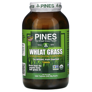 Пинес Интернатиональ, Wheat Grass, 500 mg, 1,400 Tablets отзывы покупателей